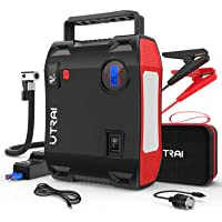 Portable Jump Starter with Air Compressor, UTRAI Jstar 5 150 PSI 2000A 24000mAh(8L Gas 7.5L Diesel Engine) 12V Battery…