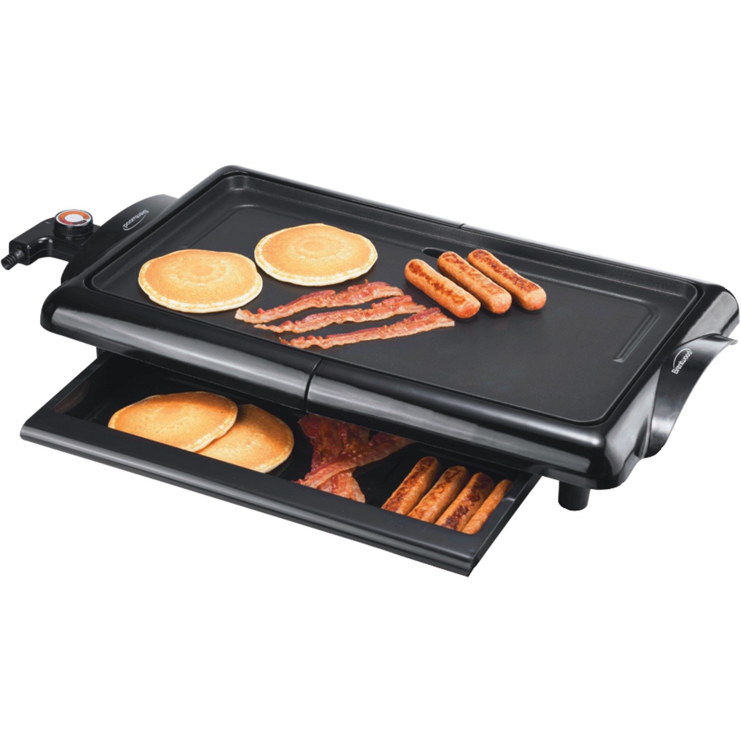 Brentwood  TS-840  Non-Stick  Electric  Griddle  with  Drip  Pan,  10  x  20  Inch,  Black by Brentwood
