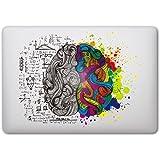 """Sticker Adhesivos Macbook, Caroki Nuevo Arte Extraíbles Vinilo Adhesivo Desprendibles Creativo Colorido Art Calcomanía Pegatina para Apple MacBook Air/Pro 13"""" (Brain 1)"""