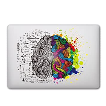 Caroki new art removable vinyl decal sticker skin for apple macbook brain 1