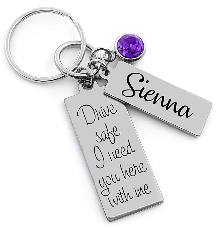 Birthday Gift Personalized Key Chain NEW DESIGN Sweet 16 Gift First Time Driver