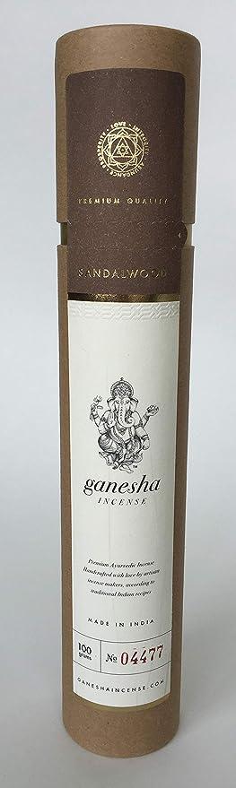 Sándalo por el oro de Ganesha Incienso: 80 + Premium Natural ...
