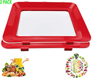 2020 Zero Waste Food Preservation Tray, Reusable Creative Leak proof Healthy Container Tray Set Kitchen Tools Portable Freezer Storage Clever Keep Fruit Vegetable Meat Hot Bacon and Bridge Sticker (2)