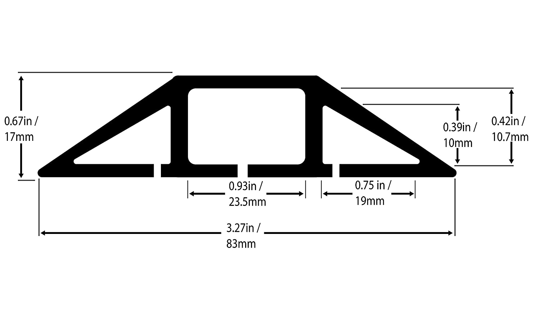 le bureau C/âbles Facile /à d/érouler et /à ou 2 m/ètres de longueur Id/éal pour la maison Prot/ège-cordon de plancher en PVC souple noir /à 3 canaux cordons et fils lentrep/ôt ou les concerts