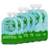 WeeSprout Double Zipper Reusable Food Pouches | 6 Pack Variety (2 ea) 3.4 fl oz,...