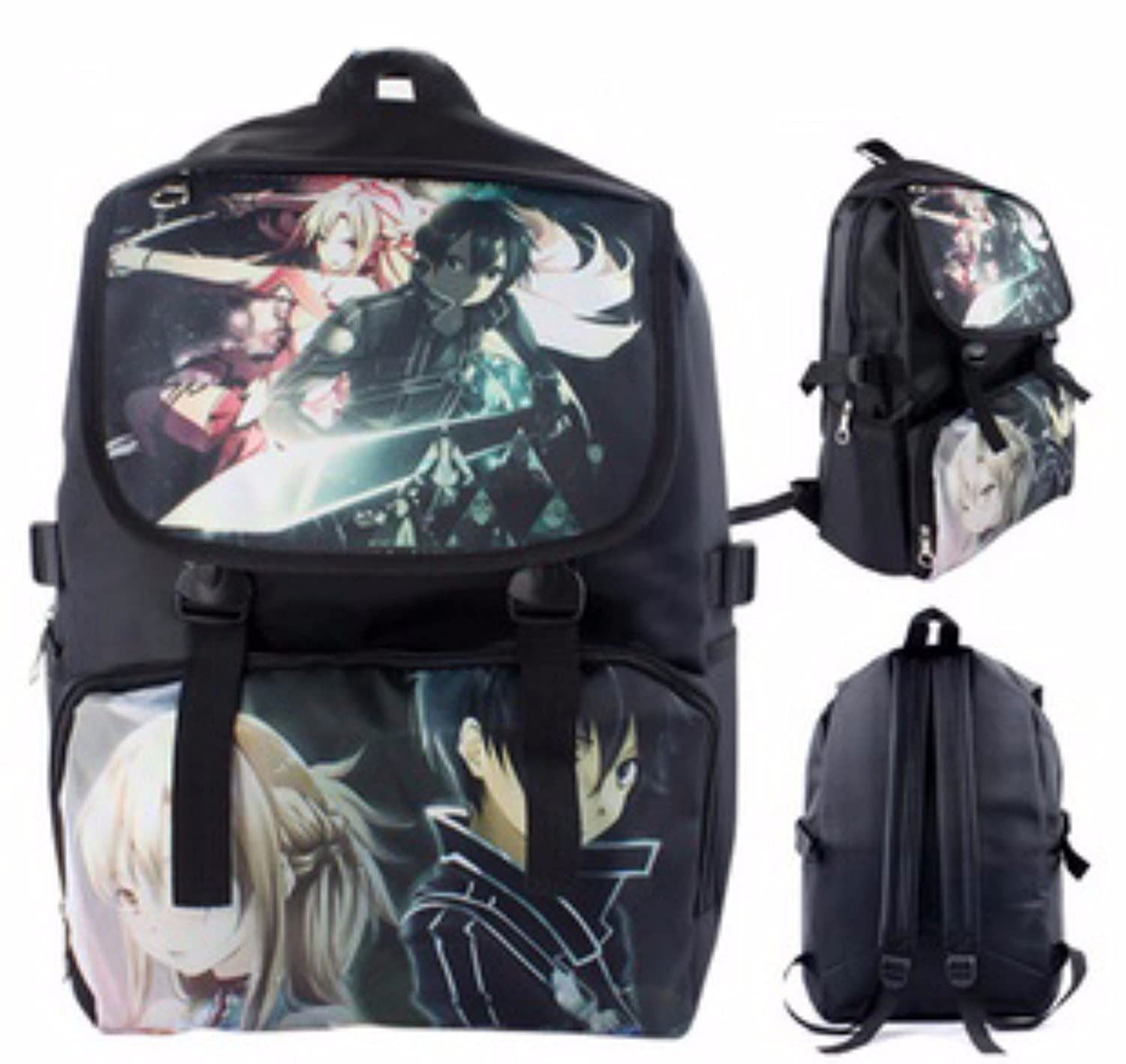 new Escuela Mochila Cartoon Casual Cartera de libros Backpack Guerrero Espacio FATE Gintama Tokyo Ghoul One piece Attack On Titan Fairy Tail rare animanga