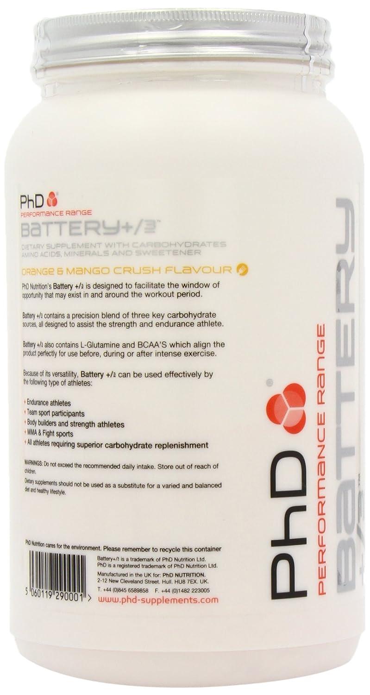 PhD Battery +/- Orange & Mango - 1000 gr: Amazon.es: Salud y cuidado personal