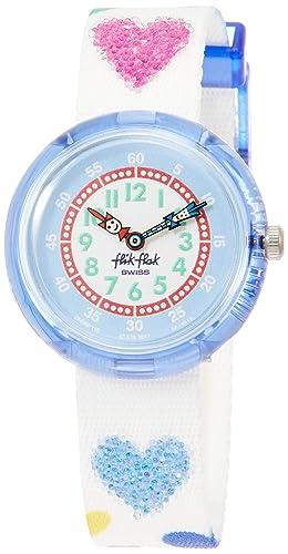 Flik Flak Reloj Analógico para Niñas de Cuarzo con Correa en Tela FBNP116: Amazon.es: Relojes