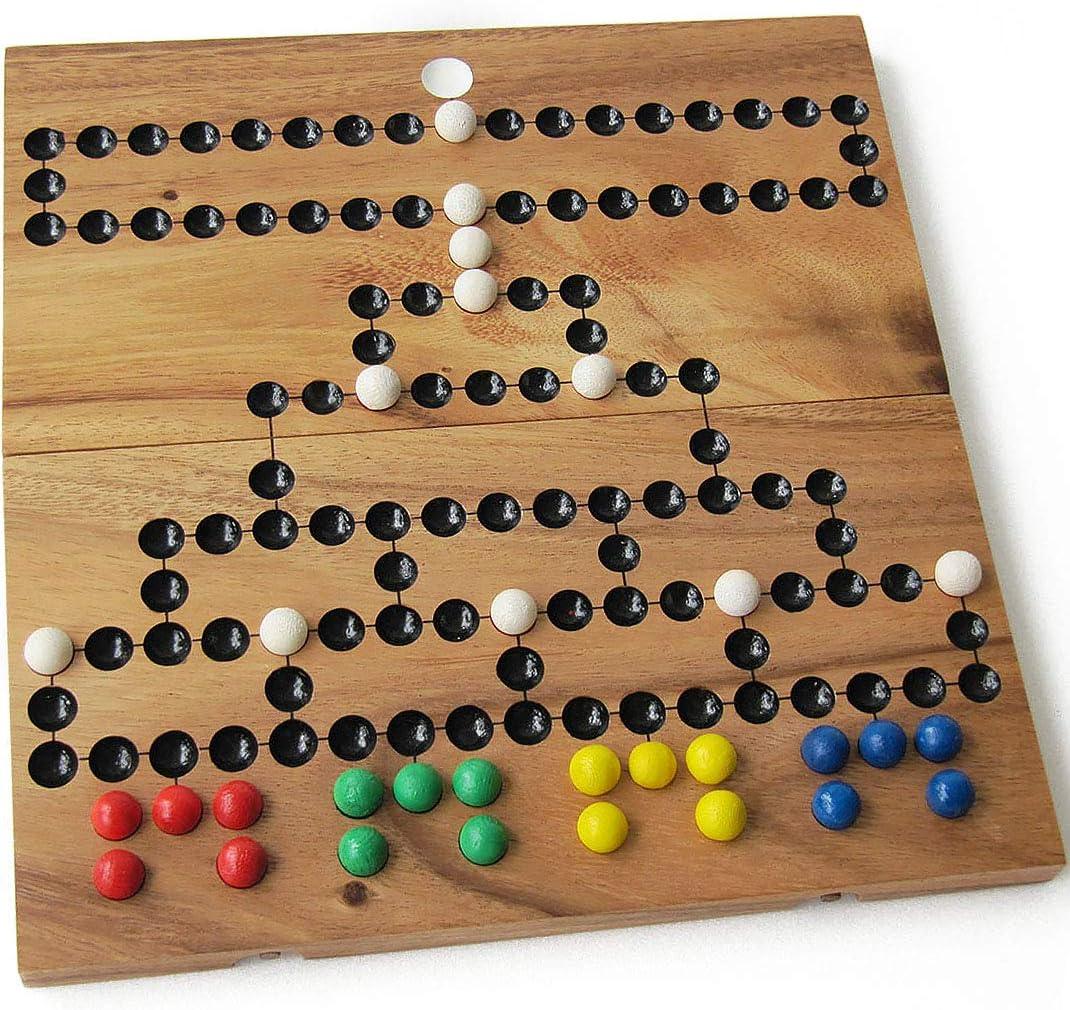 Barricada – Malefitz para 2 a 4 jugadores a partir de 6 años. Juego de mesa para toda la familia en madera maciza eco-responsable, conforme a las normas CE. 26 x 26 cm. Marca francesa Le Délirant®.