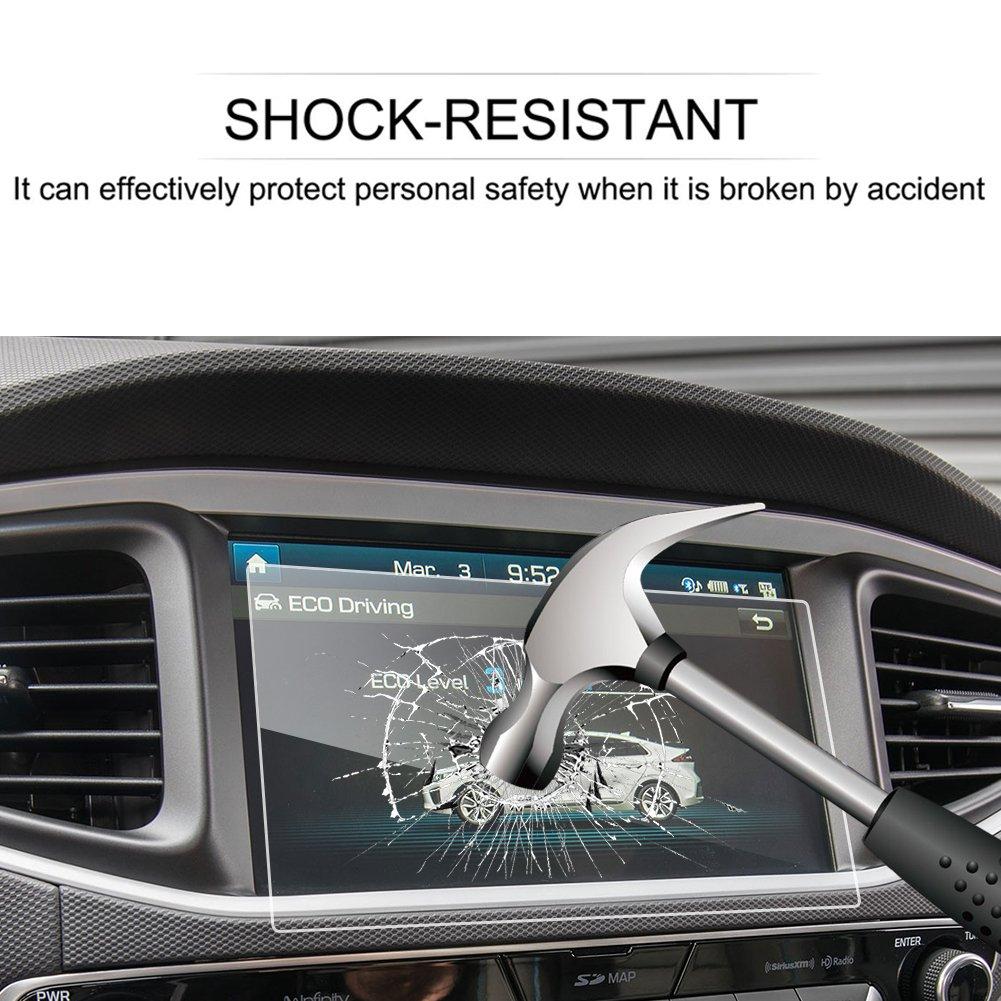 LFOTPP Hyundai Ioniq Hybrid Elektro 8 Pulgadas Navegación Protector de Pantalla - 9H Cristal Vidrio Templado GPS Navi película protegida Glass: Amazon.es: ...