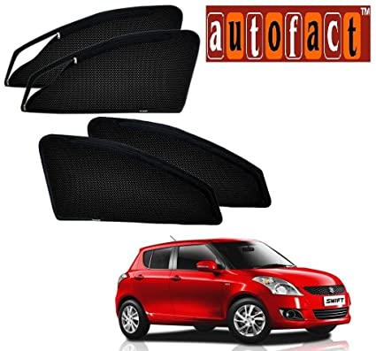 Autofact Car Accessories Zipper Magnetic Sunshades Maruti Swift 2012 To 2017