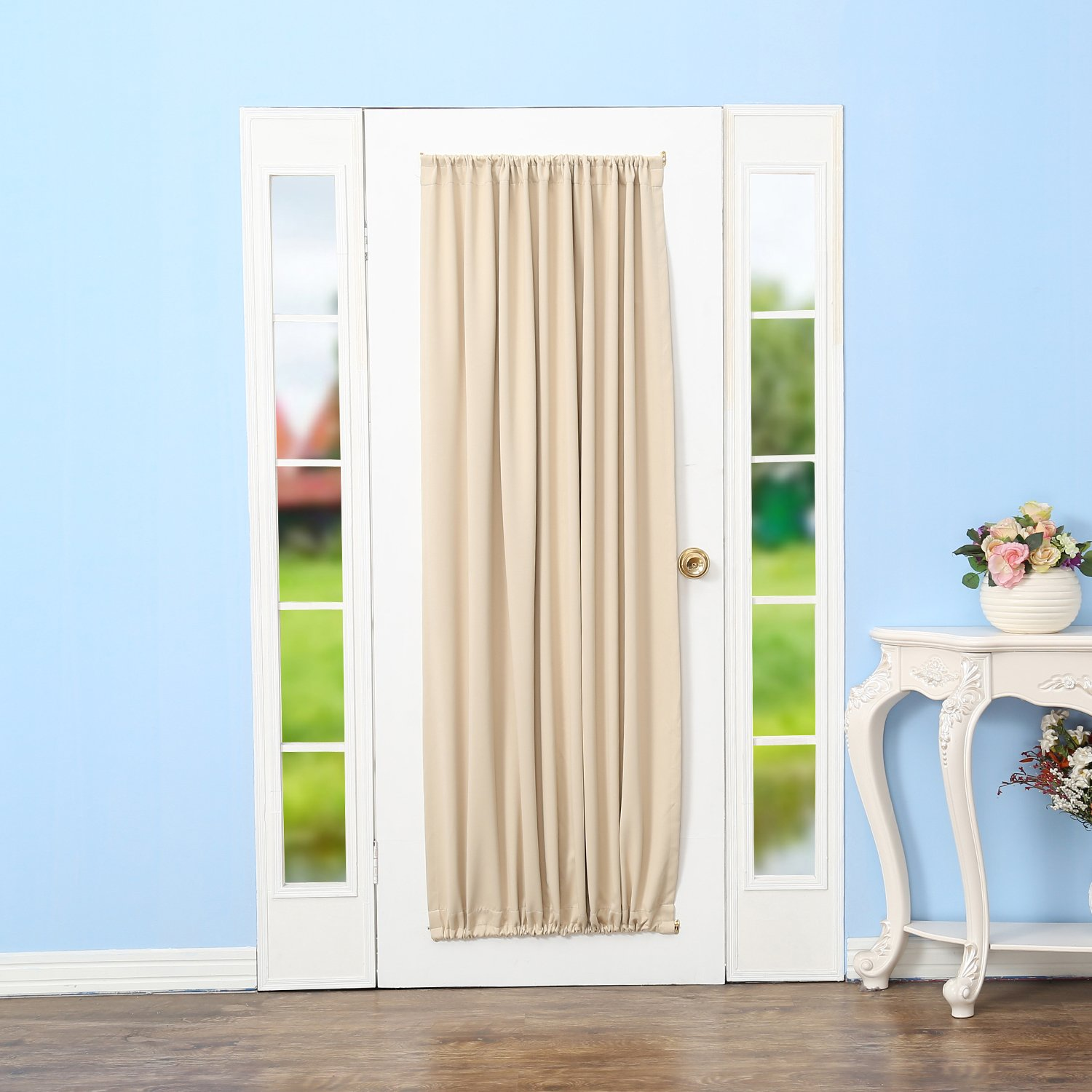 Amazoncom Rhf Blackout French Door Curtains  Thermal Insulated Door