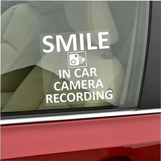 X Smile In Car Camera Recording Window Stickermm X MmCCTV - Window stickers amazon uk