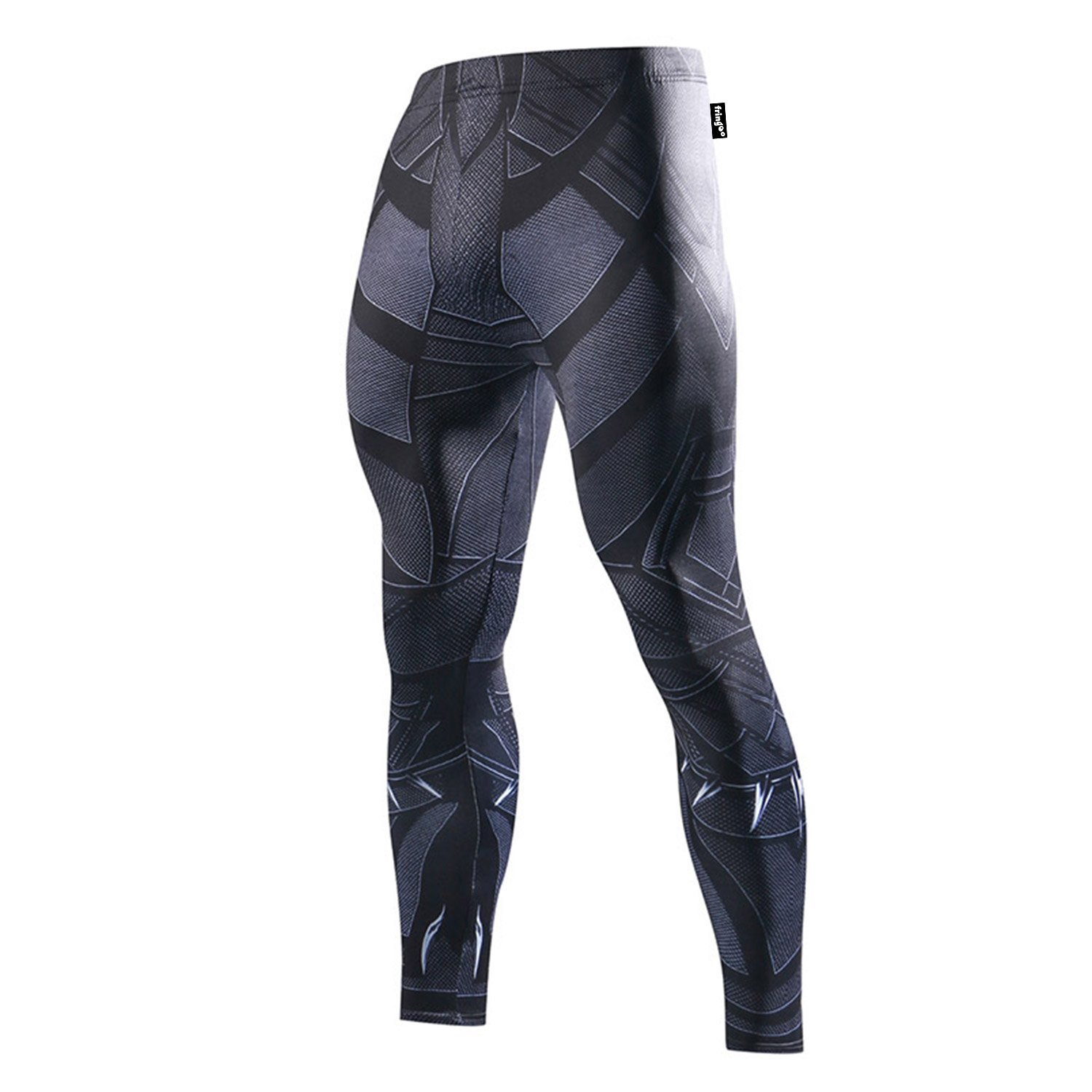 FRINGOO® Mens Compression Superhero Tights Base Layer Leggings Gym Long Running Thermal Workout