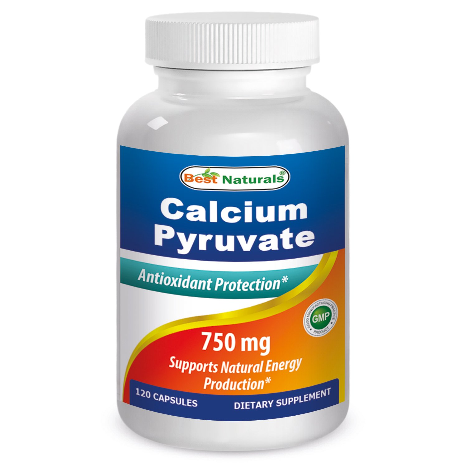 Calcium Pyruvate 750 mg 120 Capsules by Best Naturals (Pack of 3)