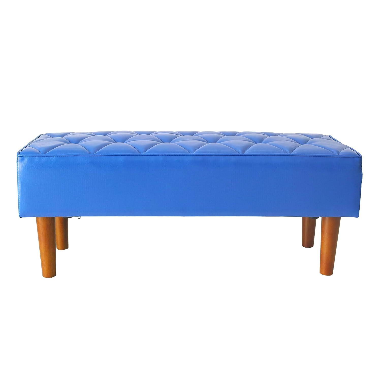 2P PVC レザーベンチ ソファ 幅100 スツール ベンチ 2人用 ベンチソファ ディアマント ブルー BL 青 子供部屋 B07F38L1QT 100cm|ブルー ブルー 100cm