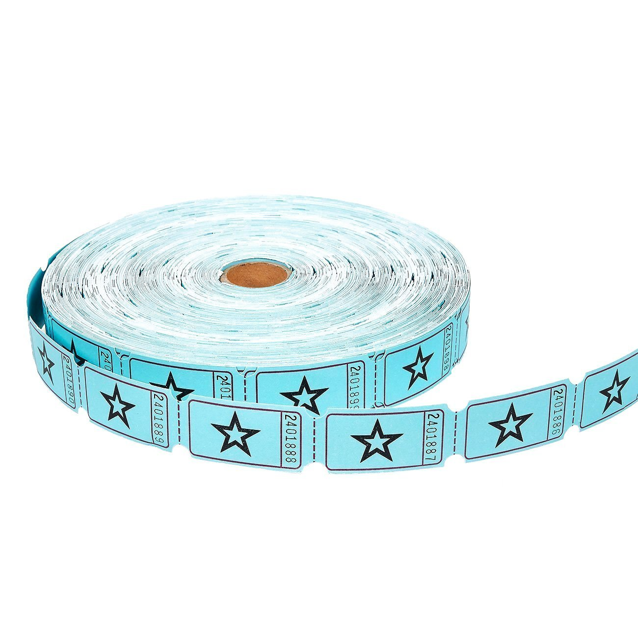 Juvale Raffle Tickets roll/ blu /Rotolo di 2000-count Star ticket coupon