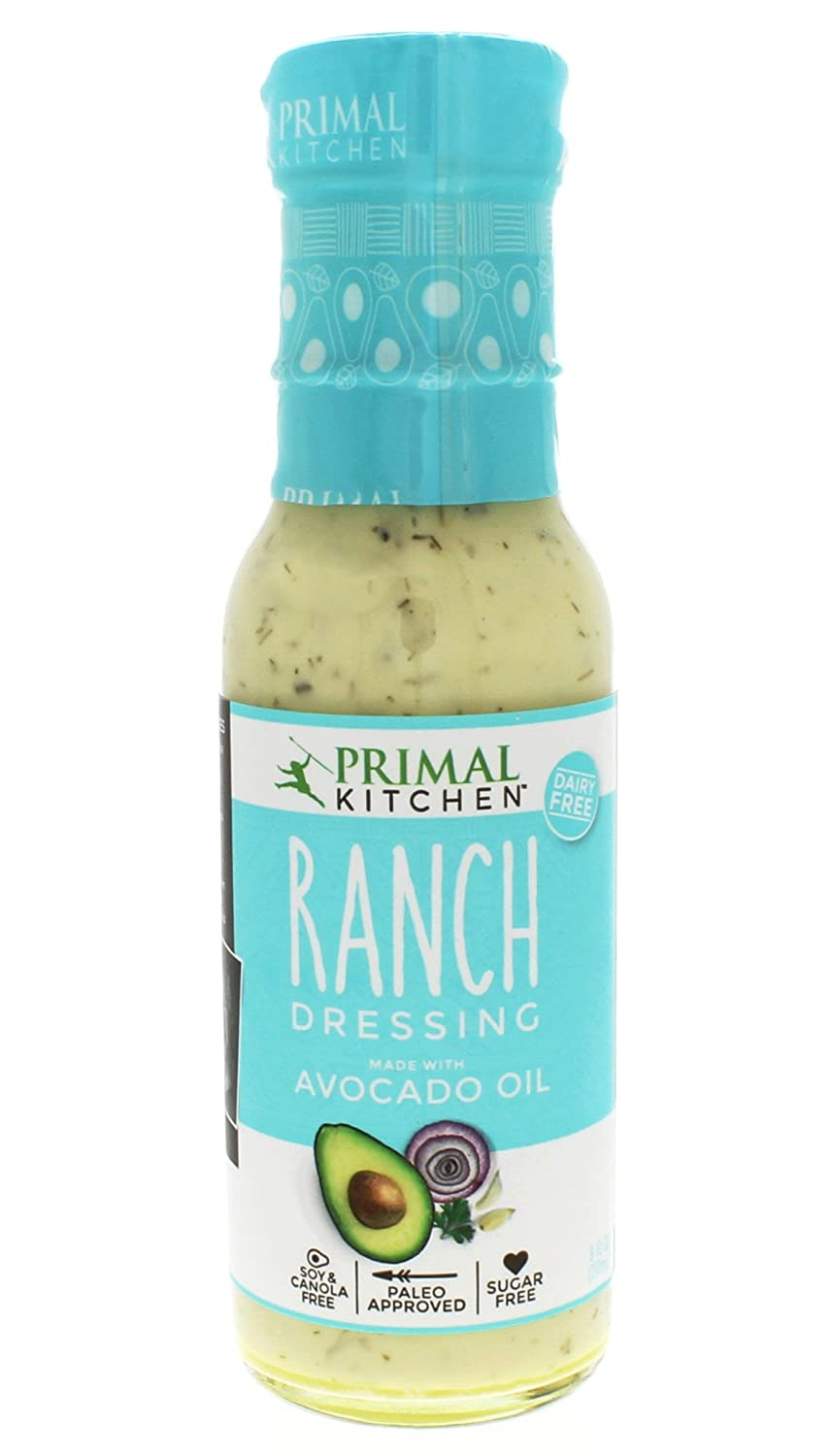 Primal Kitchen Ranch >> Primal Kitchen Ranch Dressing Avocado Oil Based Organic Dairy Free Vegan Paleo Approved 8 Ounce