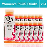 &Me PCOS | PCOD Drinks for Women with Ayurvedic Herbs, Vitamins, Minerals - For Regular Periods, Acne Control, Weight Management - 200ml each (Cranberry Flavour, Pack of 14)