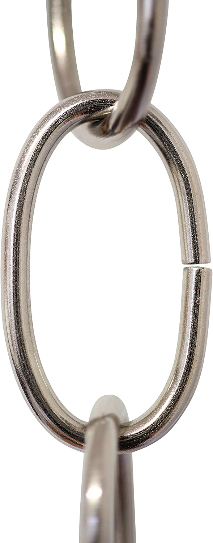 RCH Hardware CH-S56-12-PN Steel Chandelier Chain Polished Nickel