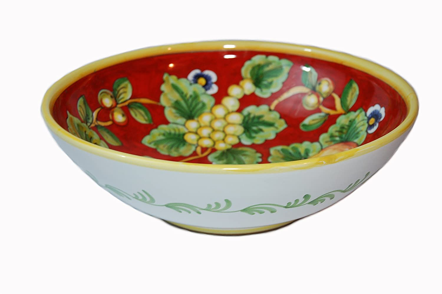 Frutta Rossa Hand Painted Ceramic Large Serving Bowl Made in Italy