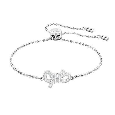 b1d7c68e0 Swarovski Lifelong Bow Bracelet, White, Rhodium Plating: Amazon.co.uk:  Jewellery