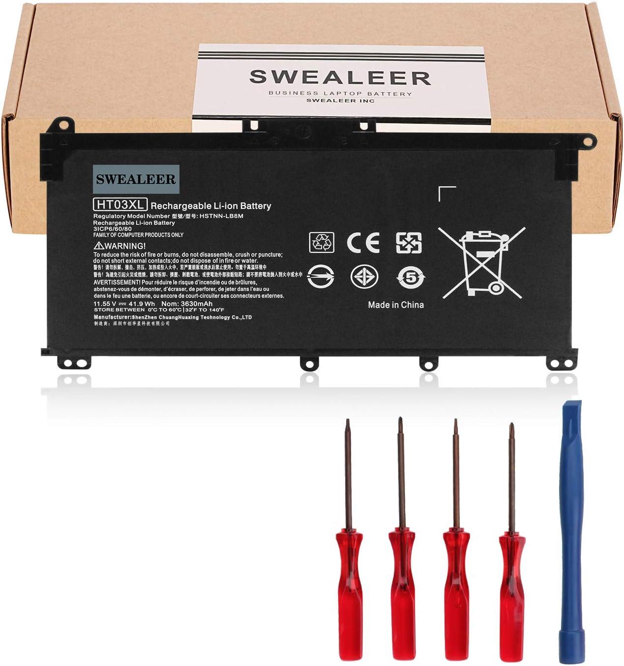 SWEALEER HT03XL Laptop Battery Compatible with HP Pavilion 14-CE0025TU 14-CE0034TX 15-CS0037T 250 255 G7 HSTNN-LB8L L11421-421 HSTNN-LB8M HSTNN-DB8R[11.55V 41.9Wh 3630mAh HT03XL]