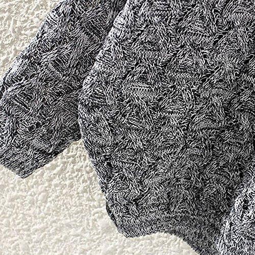 Women's Sweater, Women's Hollow Out Bat Long Sleeve Loose V Collar Sweater (Dark Gray, Free) by SOUND JUNKU (Image #3)