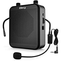 Giecy Spraakversterker draagbare bluetooth luidspreker (30 W) met 7,4 V/2800 mAh lithium batterij en microfoon headset…