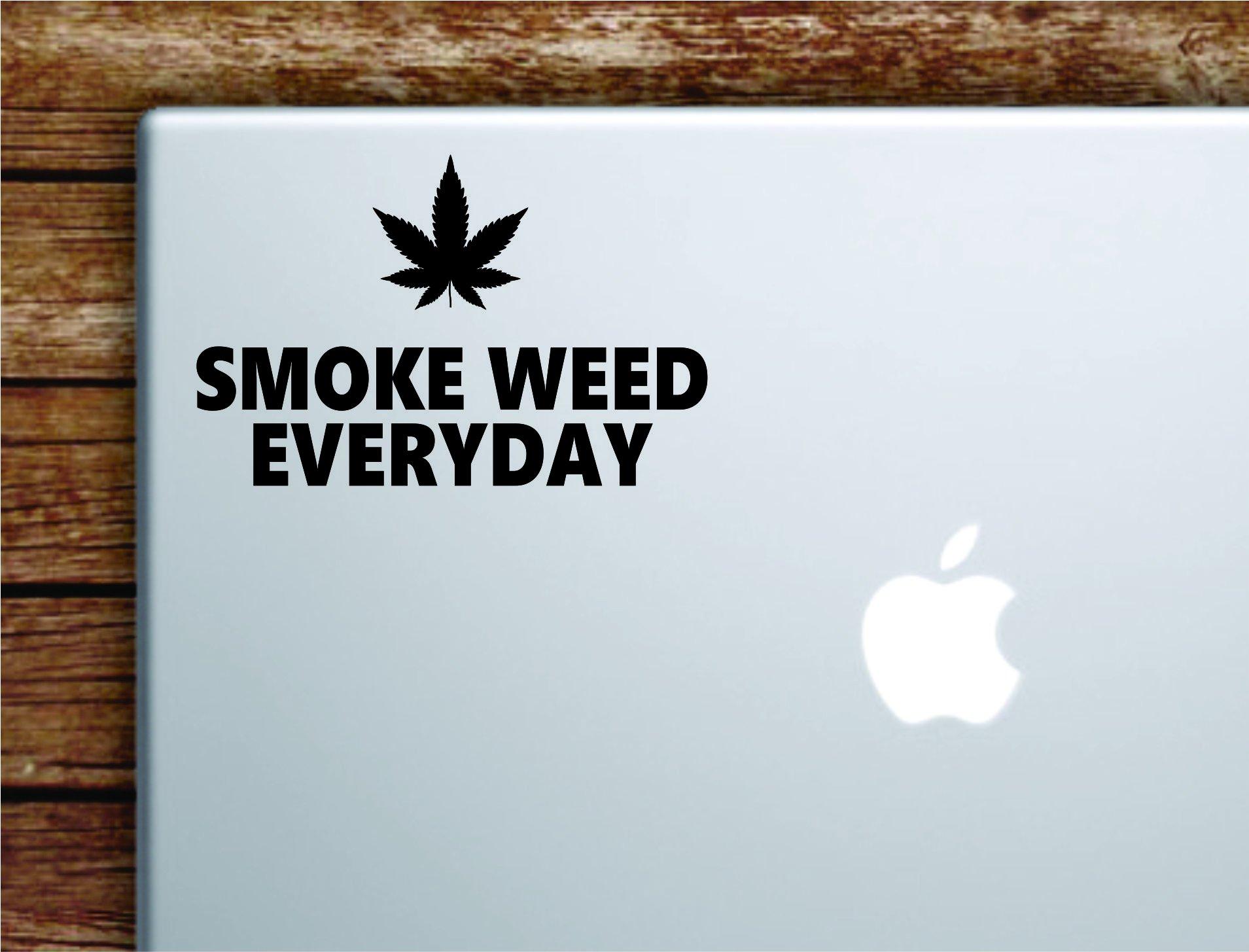 Boop Decals Smoke Weed Everyday Laptop Apple Macbook Quote Wall Decal Sticker Art Vinyl Inspirational Motivational Funny Rap Hip Hop Music Lyrics