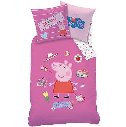 Edredon Nordico Peppa Pig.Peppa Pig Funda De Edredon 140 X 200 Funda De Almohada 63 X 63 Juego De Cama
