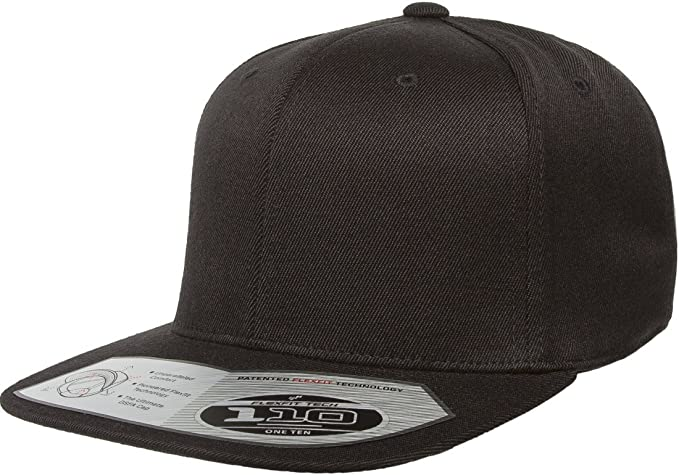 f5e33cc7752090 Flexfit/Yupoong 110F, 110FT One Ten Snapback Hat Cap (Black) at ...