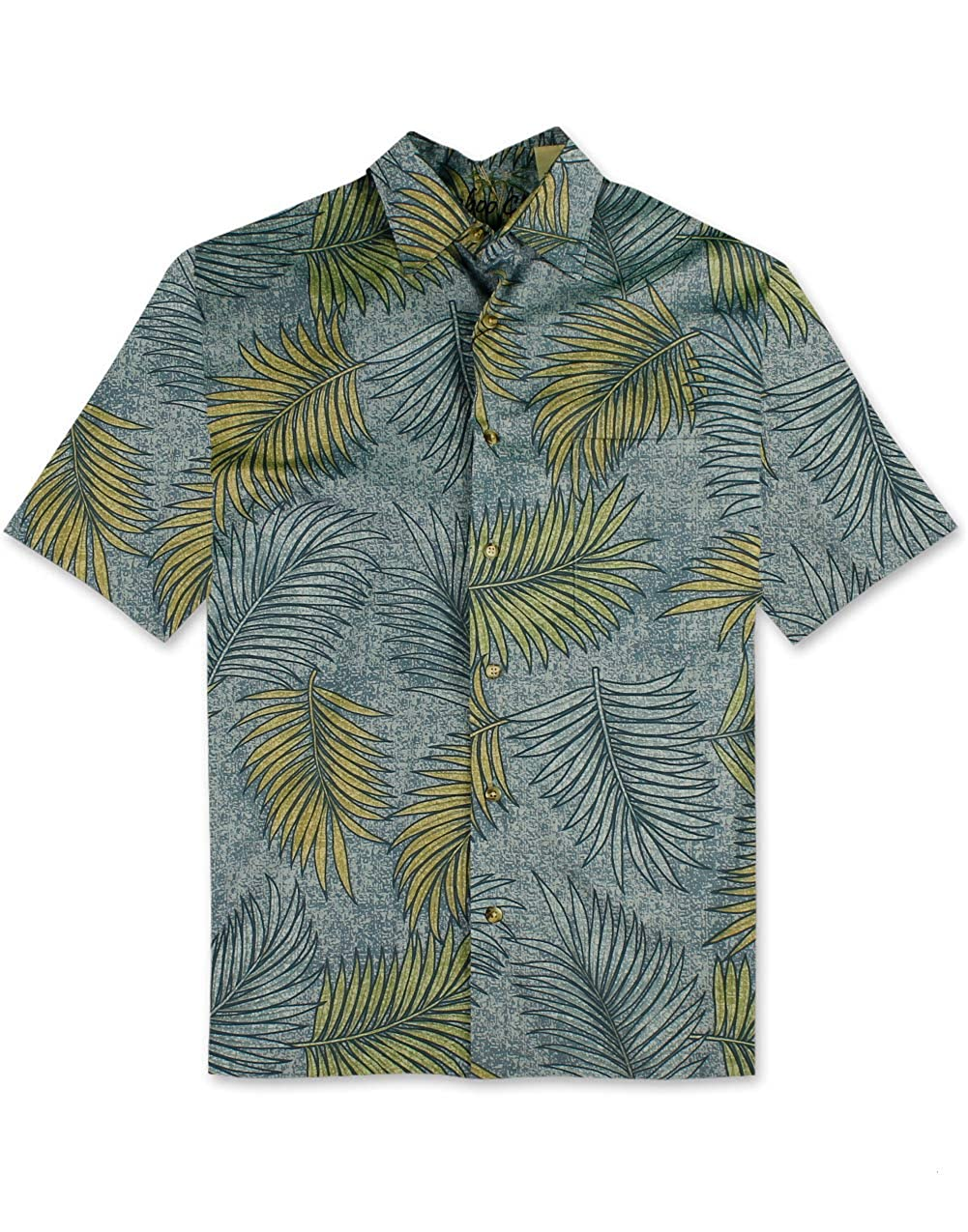Bamboo Cay All Over Leaves Cotton Sateen Shirt