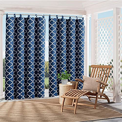 HGmart Patio Outdoor Curtain Waterproof Privacy Indoor Panel UV Protection Tab Top Drape for Porch Gazebo Deck -1 Panel 50 x84