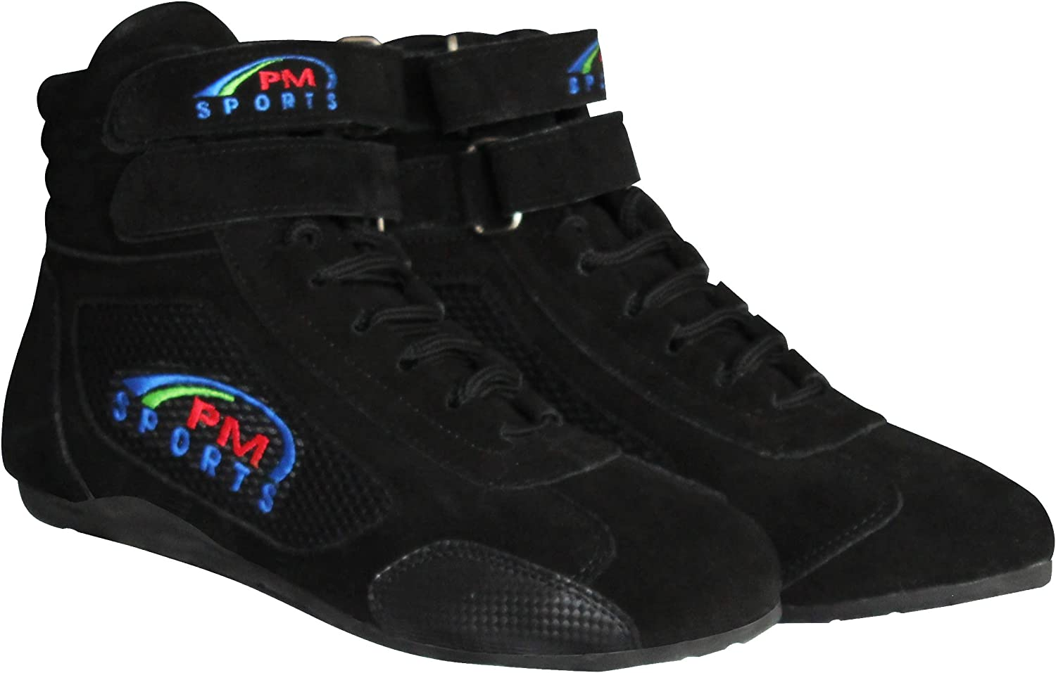 PM Sports Red Adult Karting Boots Race Rally Track Boots with Suede /& Mesh Racewear
