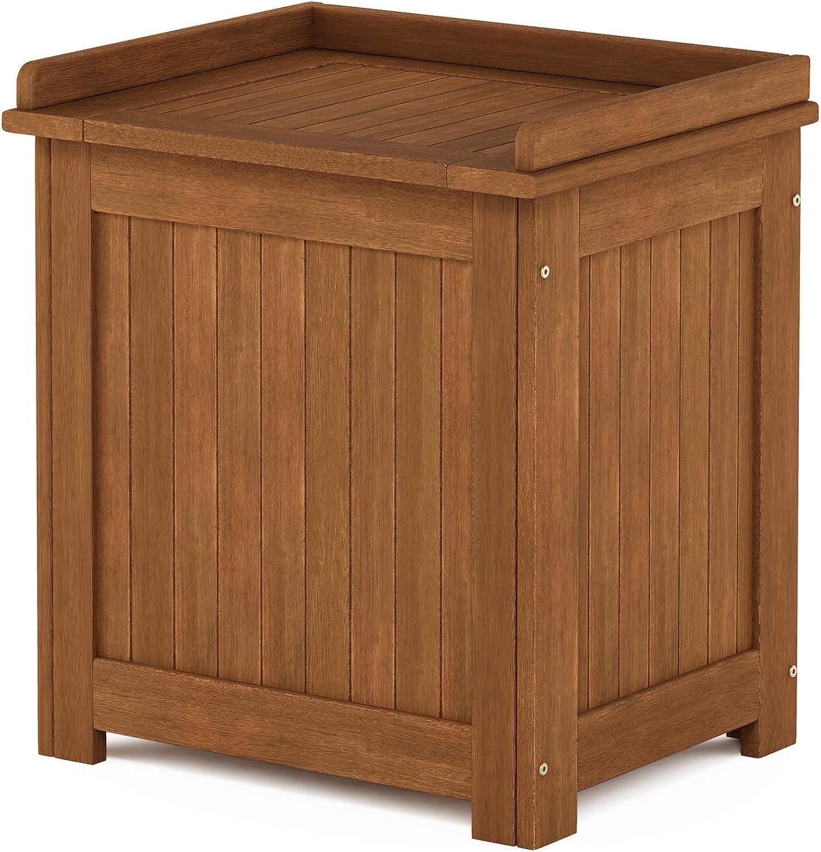 Furinno FG19749 Tioman Outdoor Hardwood Storage Box, Natural