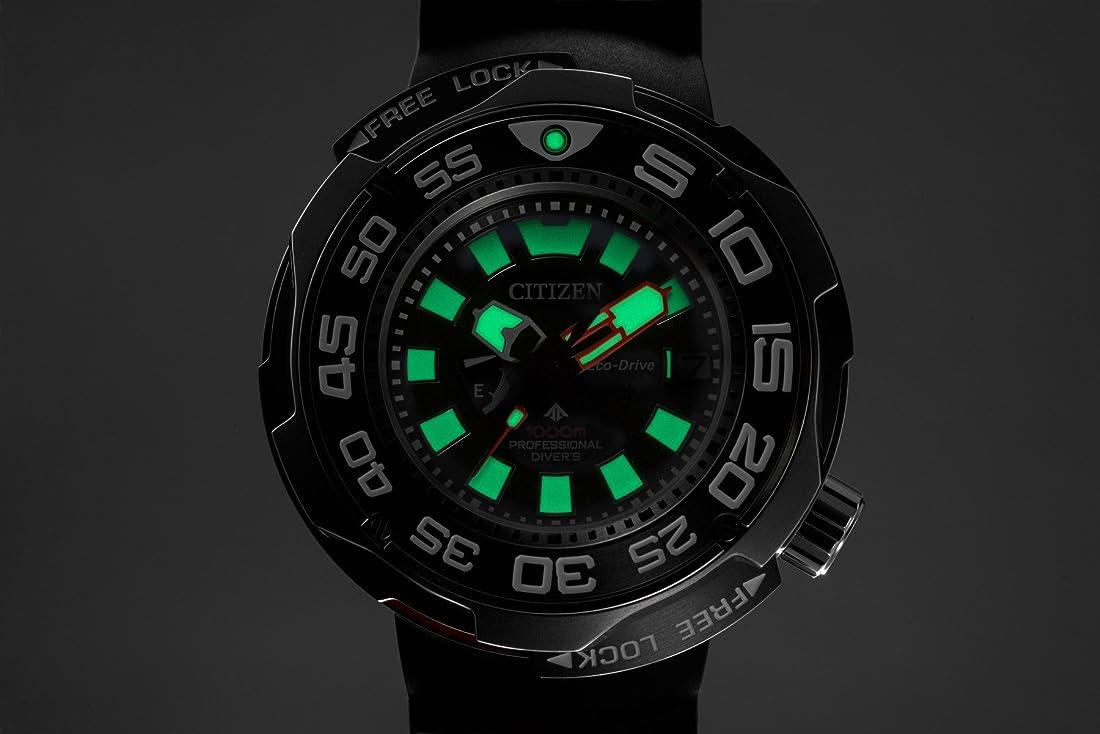 Citizen promaster eco-drive 1000m super titanium sapphire diver watch bn7020-09e