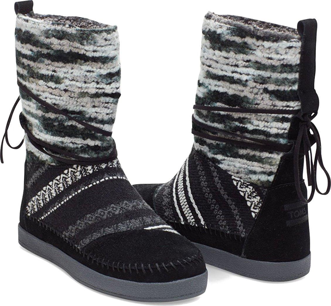 Toms Women's Suede Textile Mix Nepal Black 10006219 (SIZE: 9)