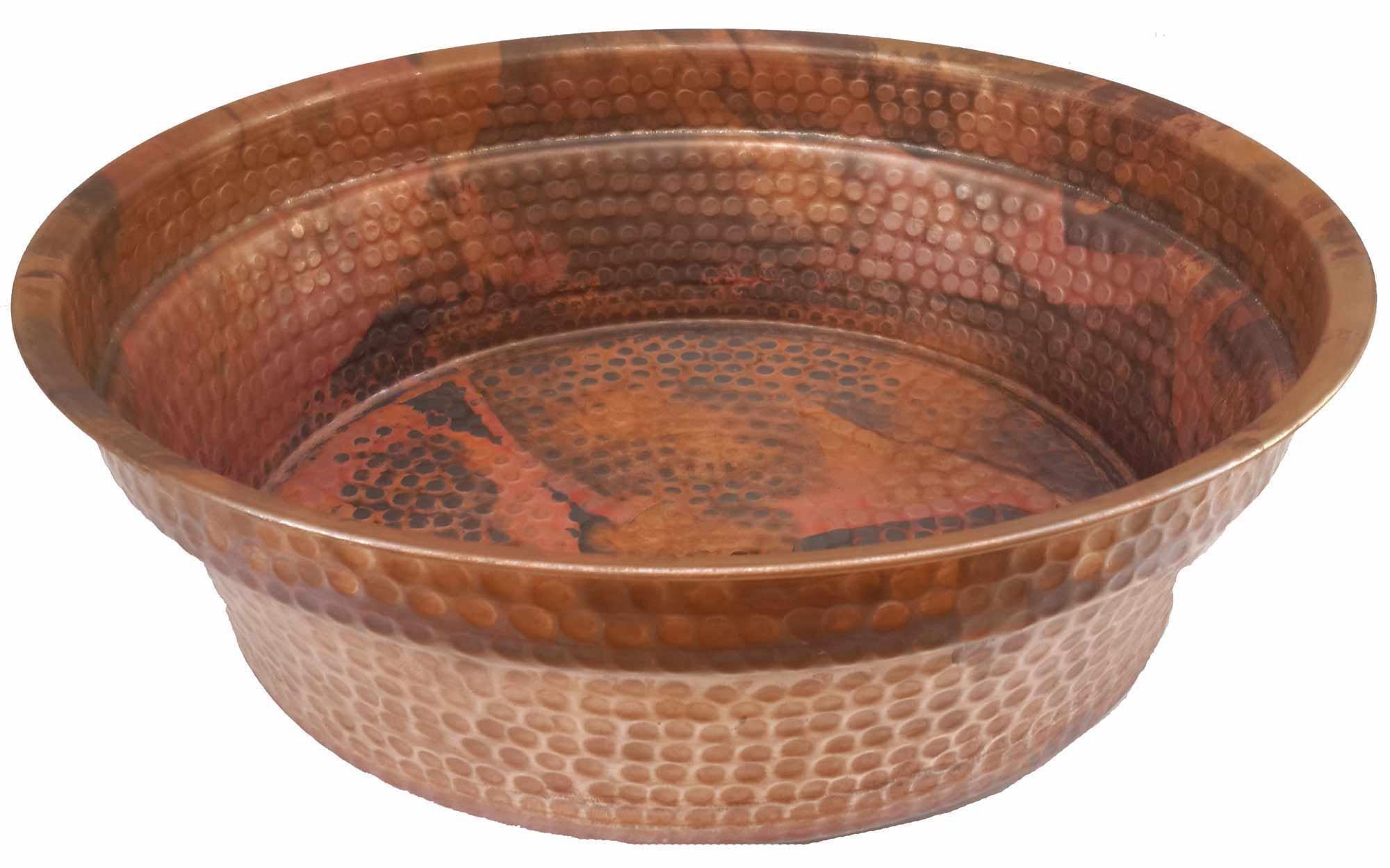 Egypt gift shops Copper Foot Rub Soak Wash Spa Styling Salon Massage Pedicure Bowls Healthy Wash Pot Garden Planter Water Storage Skin Dehydration