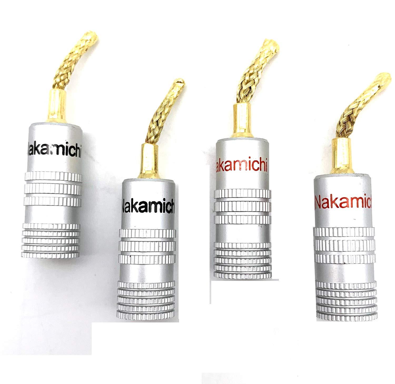 resistenti alla corrosione 4 connettori a banana in filo di rame intrecciato 2 mm per amplificatore audio Hksman senza perdita di qualit/à del suono