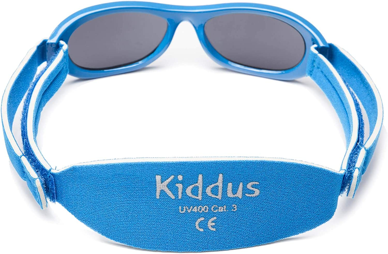 desde 0 meses a 2 a/ños el regalo ideal para reci/én nacidos. 100/% protecci/ón UV MUY C/ÓMODAS gracias a la SUAVE banda ajustable Kiddus Gafas de sol Baby para beb/és NI/ÑOS chicos