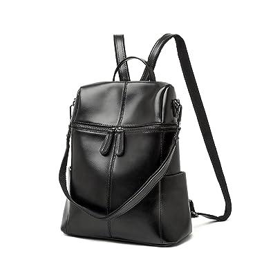 Leyan Women's Leather Stylish Multi-purpose Backpack Handbag ...