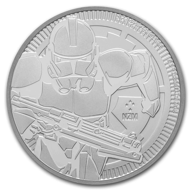 2019 1 oz Niue Silver $2 Star Wars Clone Trooper BU