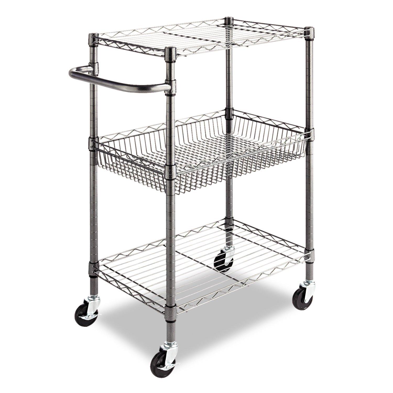 Amazon Alera 3 Tier Wire Rolling Cart 3 Tier Wire Rolling