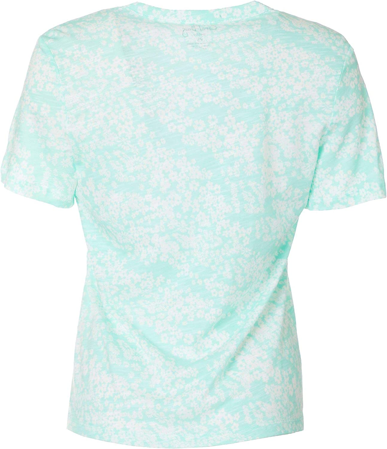 Coral Bay Petite Floral Pleated Short Sleeve Top