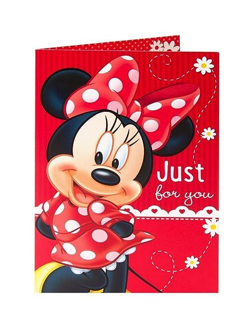 Amazon.com: Disney Minnie Mouse en rojo vestido y el arco ...