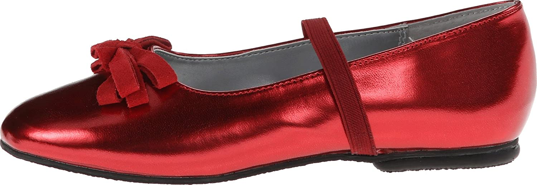 Red Metallic Loafer Jumping Jacks Kids Baby Girls Piper Toddler//Little Kid//Big Kid