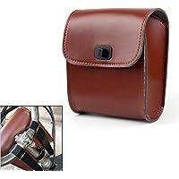 Areyourshop Bolsa universal marrom para garfos dianteiros para bagagem, alforje, serve para motocicleta
