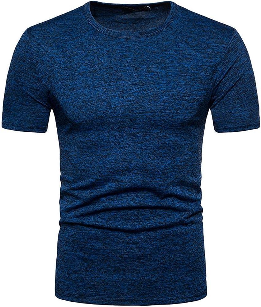 FAMILIZO T Shirts For Men Camisetas Manga Corta Hombre Moda Camisetas Hombre Algodón Camisetas Hombre Verano Blusa Hombre Manga Corta T Shirt Hombre XXL Tops Mens Tops Blusa Hombre (S, Azul): Amazon.es: