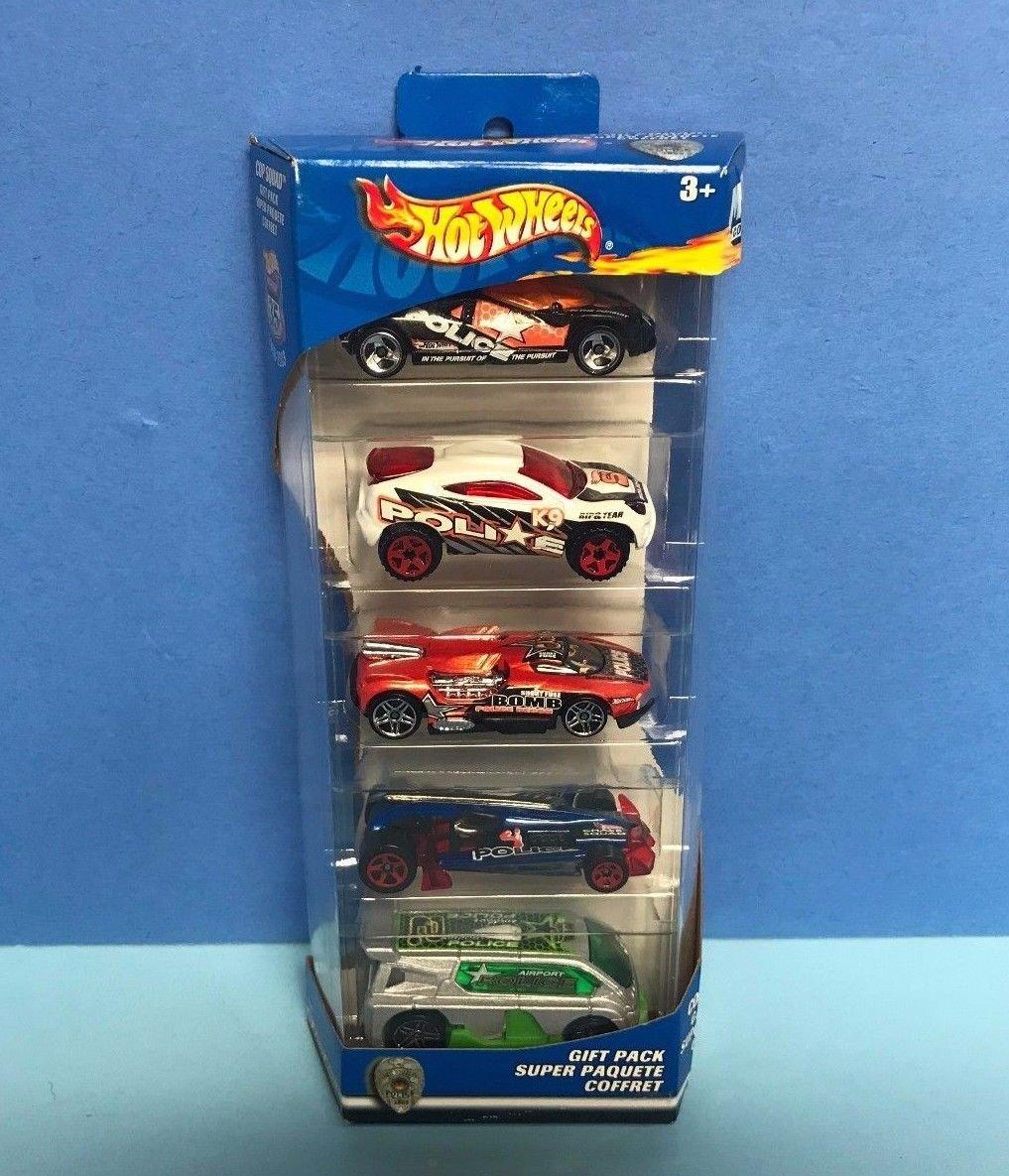 COP SQUAD Gift Pack 2002 Mattel HOT WHEELS diecast 5 car set